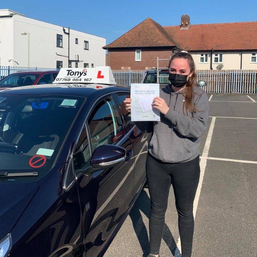 Well done to Leah from Hinckley on passing her driving test first time, the worlds your oyster now with endless possibilities