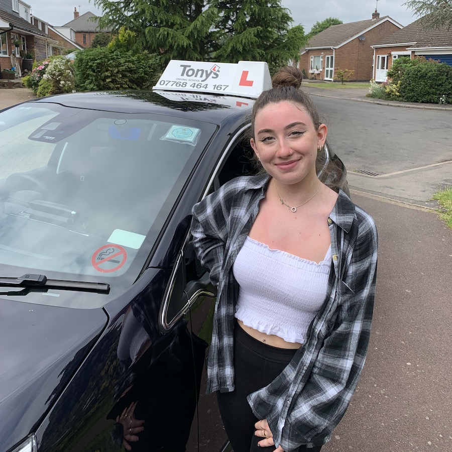 Well done to Hannah from Leire on passing her driving test first time